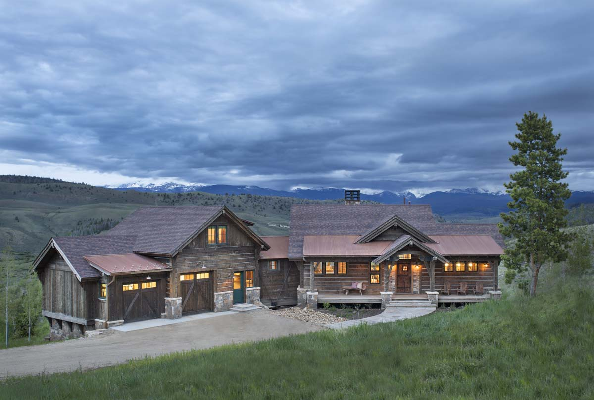 Axial arts architecture grand county cabin for Ranch homes